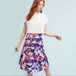 🆕 Anthropologie Maeve Ava Geo Printed Midi Skirt